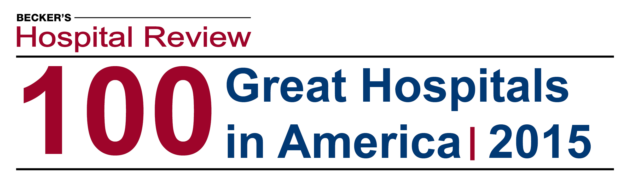 100 great hospitals in america 2015 for Becker study plan