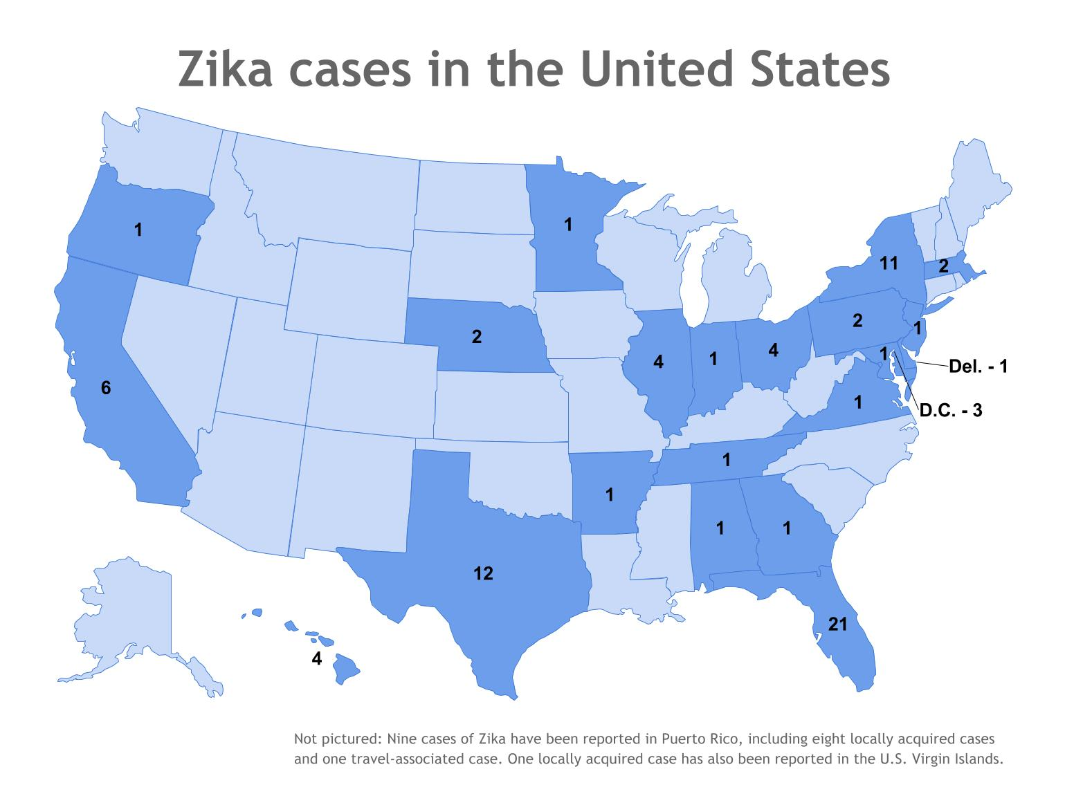 Potential Zika Virus Risk Estimated For US Cities UCAR On The - Virus map us