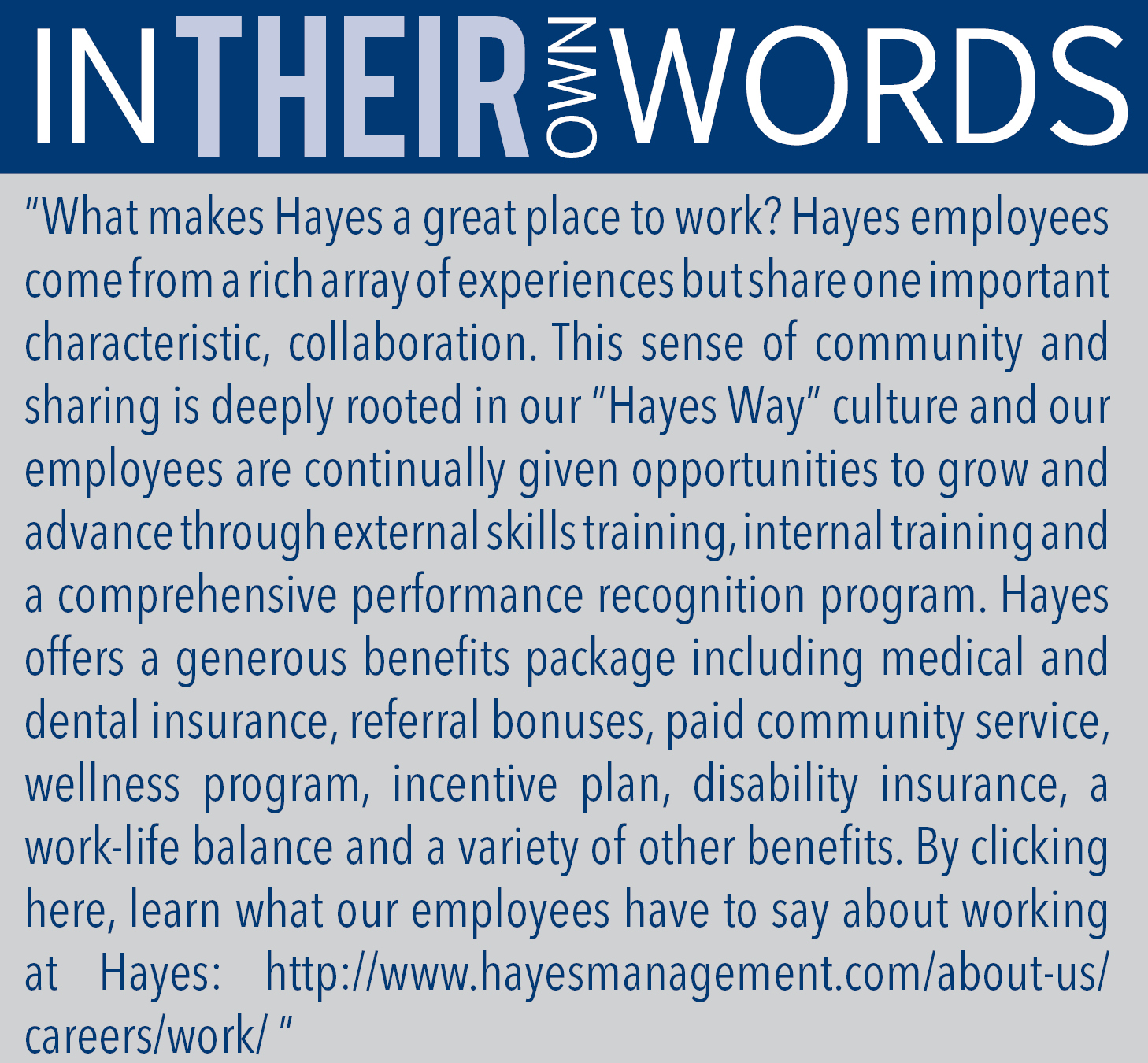 hayes-management-words