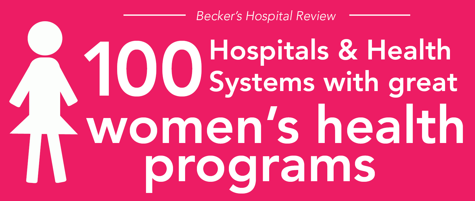 100 hospitals and health systems with great women's health