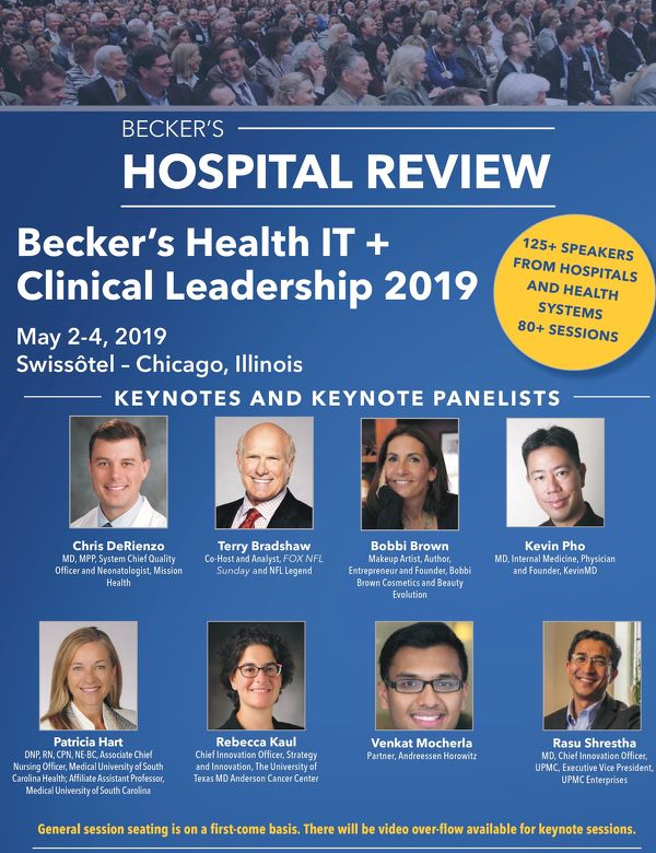 Becker's Hospital Review 2nd Health IT + Clinical Leadership 2019