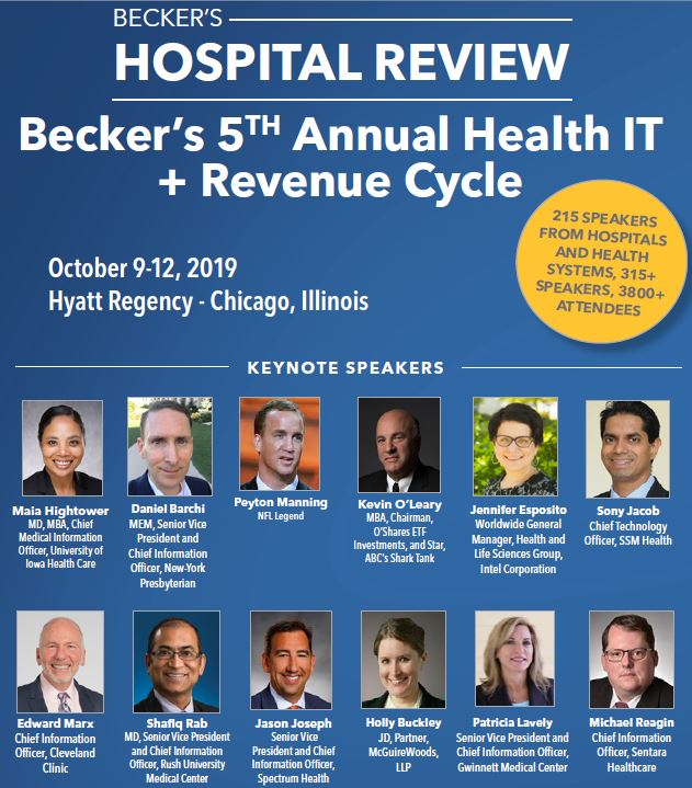 Becker's Hospital Review 5th Annual Health IT + Revenue Cycle Conference