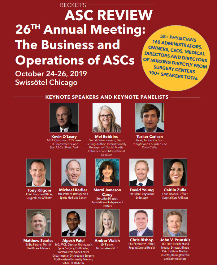 Becker's ASC 26th Annual Meeting: The Business and Operations of ASCs