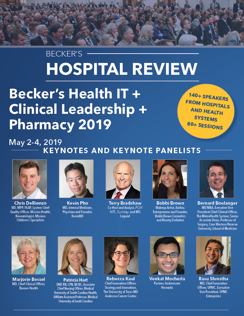 Becker's Hospital Review 2nd Health IT + Clinical Leadership + Pharmacy 2019