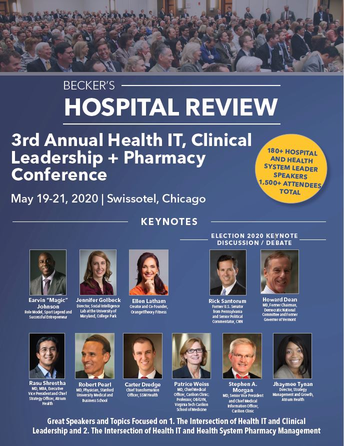 Becker's Hospital Review 3rd Annual Health IT + Clinical Leadership + Pharmacy