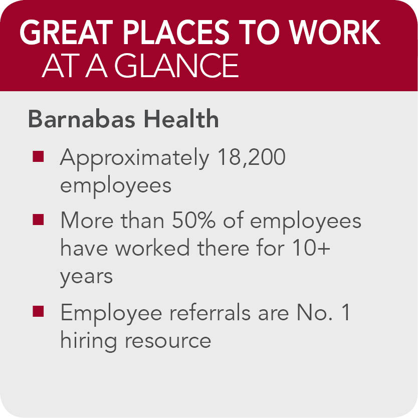 Barnabas Health - 150 Great Places to Work in Healthcare | 2014