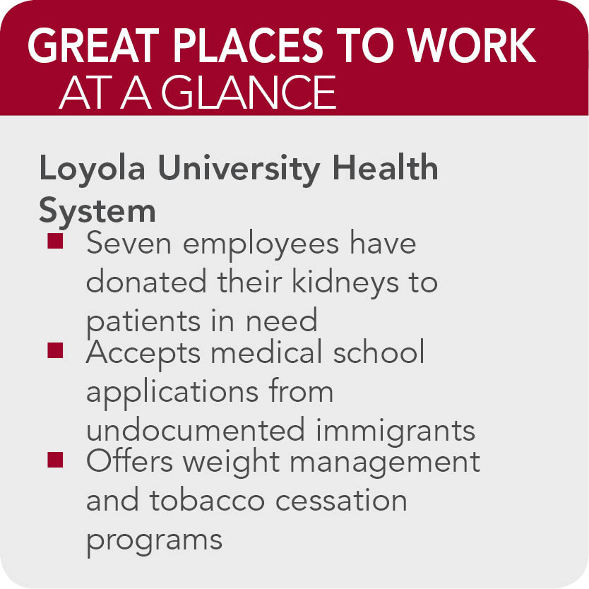 Loyola University Health System - 150 Great Places to Work in ...