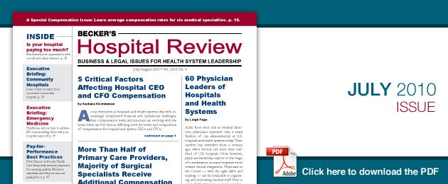 July 2010 Hospital Review Issue