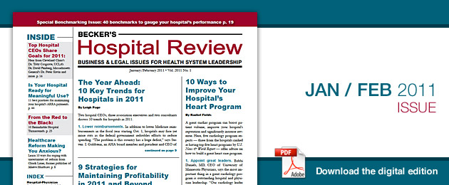 January 2011 Hospital Review Issue