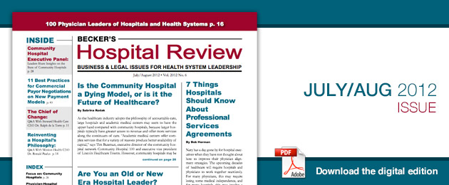 Current Issue of Becker's Hospital Review