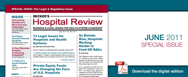 June 2011 Hospital Review Issue